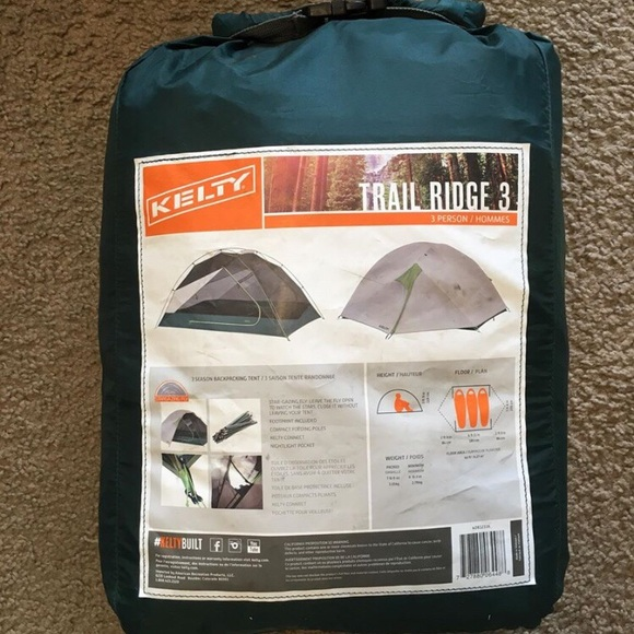 Kelty Trail Ridge 3 Tent & 67% off kelty Other - Kelty Trail Ridge 3 Tent from Spenceru0027s ...